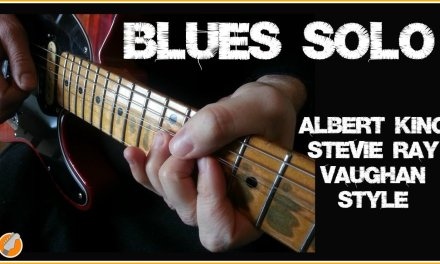 Blues Guitar  Lesson – Stevie Ray Vaughan Albert King Style Solo