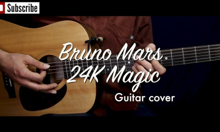 Bruno Mars – 24K Magic guitar cover / guitar (lesson/tutorial) w strumming, Chords. /play-along/