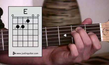 E Chord – Easy Third Guitar Chord – Beginner Guitar Lessons Stage 1 – JustinGuitar [BC-113]