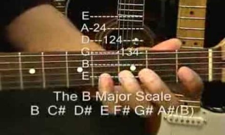 How To Play The B Major Scale On Guitar Lesson Midnight Memories