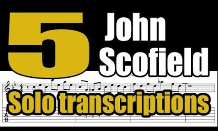 5 John Scofield solo transcriptions with tabs – Jazz guitar lesson