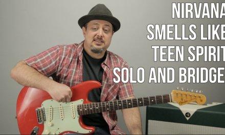 Nirvana – Smells Like Teen Spirit – Bridge and Solo Guitar Lesson – Easy Guitar Solo