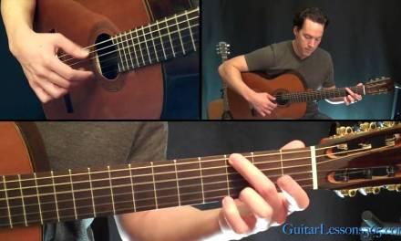 Classical Gas Guitar Lesson – Mason Williams – Part Four