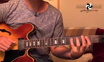 Jazz Walking Bass On Autumn Leaves Sound-Alike – Guitar Lesson [JA-523]