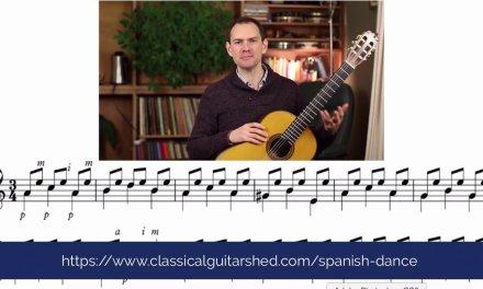 Quick Spanish Classical Guitar Lesson Video