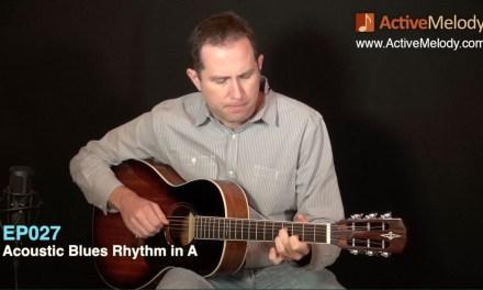 Acoustic Blues Rhythm Guitar Lesson: Fingerstyle – EP027