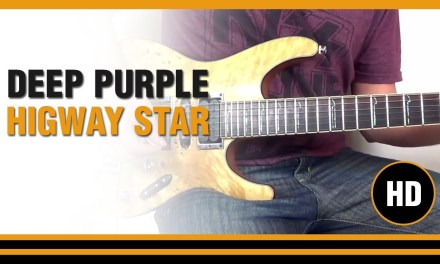 How to play Higway Star from DEEP PURPLE- Electric GUITAR LESSON