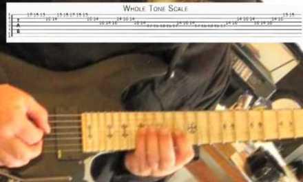Shredding the Whole Tone Scale – Guitar Lesson w/ Edward Andrew