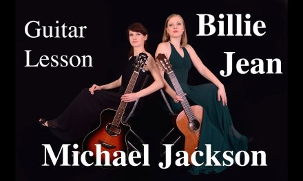 FREE guitar TAB & LESSON Billie Jean for beginners