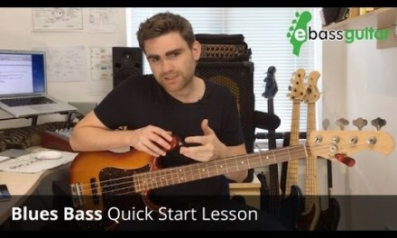Walking Blues Bass guitar Lesson  Quick Start –  Pride & Joy Stevie Ray Vaughan
