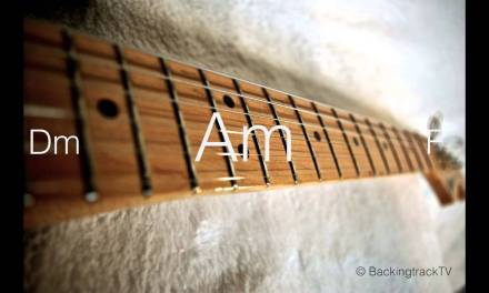 Blues Guitar Backing Track in Am