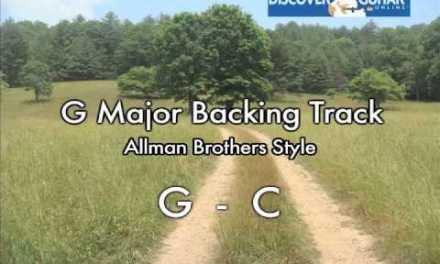 G Major Backing Track for guitar: Southern Rock Allman Brothers style