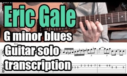 Eric Gale guitar solo lesson & backing track – Minor blues – Too blue (Stanley Turrentine)