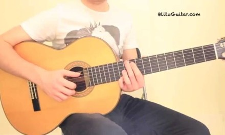 Killer Riff Malaguena Classical Guitar Lesson. One String Riff!
