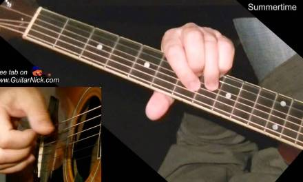 SUMMERTIME: Fingerstyle Guitar Lesson + TAB by GuitarNick