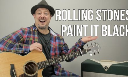 """How to Play """"Paint it Black"""" by The Rolling Stones on Guitar"""