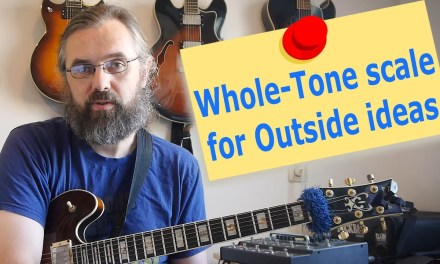 Whole-tone scale for outside playing
