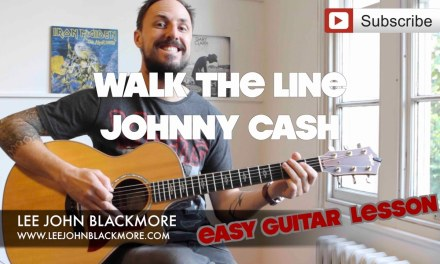 Easy Guitar Lesson | Johnny Cash Walk | The Line (intro with chords)