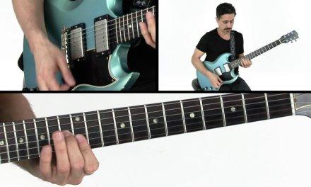 Blues Rhythm Guitar Lesson – Cuttin' Wood Breakdown – Corey Congilio