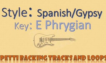 E Phrygian – Spanish/Gypsy Guitar Backing Track