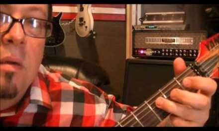 How to play a C minor scale on guitar{open pos.} by Mike Gross