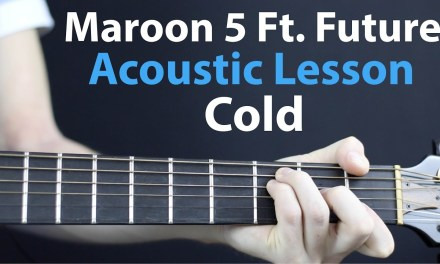 Maroon – Cold: Acoustic Guitar Lesson EASY