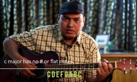 C Major Scale Guitar Lesson for beginners by Sanjeev Babbar