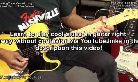 The EASIEST BLUES GUITAR YouTube TUTORIAL LESSON SERIES EVER EricBlackmonMusicHD