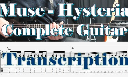 Muse, Hysteria, Guitar Lesson, How to play, Tab, Tutorial, Solos, Riffs, Cover, Tabs,