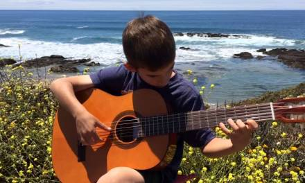Classical guitar lessons–Joey playing Carcassi study no. 1