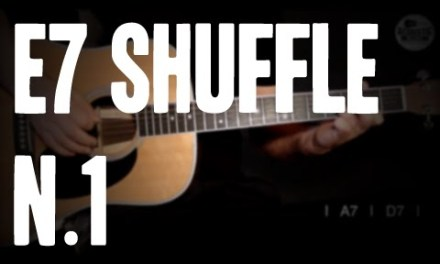 BURNINGUITAR.COM – ACOUSTIC BLUES GUITAR LESSONS – E7 shuffle 1