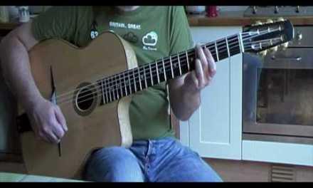 C Major turnaround arpeggio exercise: gypsy jazz guitar lesson with tab
