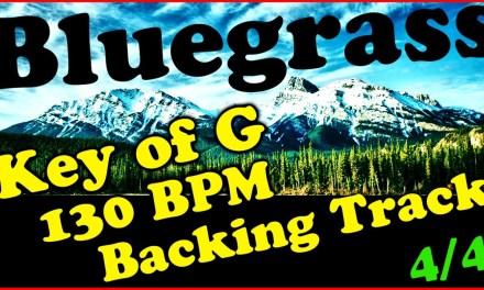 Key of G Bluegrass Backing Track 130BPM Extended Chords Jam Track Mandolin, Banjo, Fiddle, Guitar