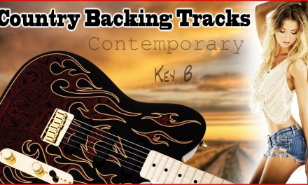 Key of B Country Backing Track Jam Track 4/4 Practice guitar, fiddle, mandolin, banjo & bass licks