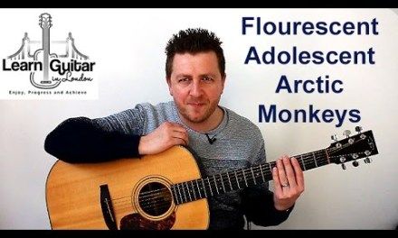 Arctic Monkeys – Guitar Lesson – Flourescent Adolescent – Intro Riff – TAB on screen