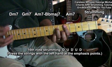 George Michael CARELESS WHISPER Tribute Chords & Funky Strumming EricBlackmonMusicHD Wham!