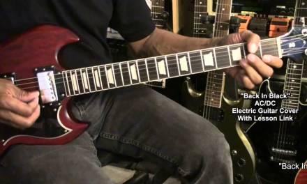 AC/DC BACK IN BLACK Electric Guitar Cover EricBlackmonMusicHD