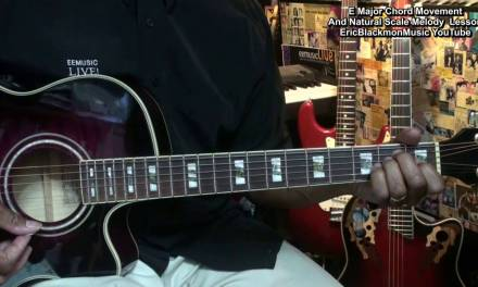 Creating Music With An E Chord And The Natural Scale Guitar Lesson