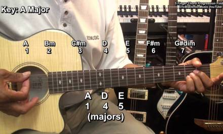Five Finger Discount  Guitar Chord Progression & Scale Finder Tutorial Lesson EBMTL HD
