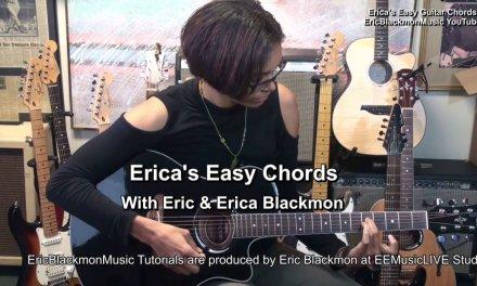 A7 Erica's EASY Chords On Guitar #10 Blues Chord EricBlackmonMusicHD TABS