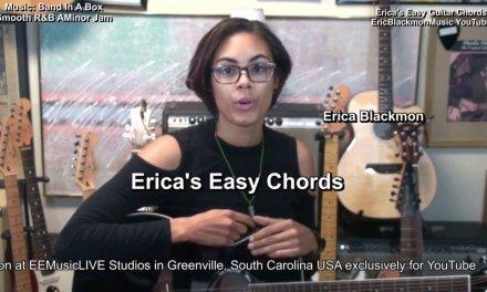 Amaj7 Erica's EASY Chords On Guitar #19 EricBlackmonMusicHD TABS Theory