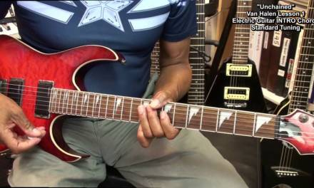 UNCHAINED Intro Van Halen Lesson 1 STANDARD TUNING Chord TABS EricBlackmonMusicHD YouTube