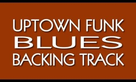 UPTOWN FUNK Blues Backing Track in G