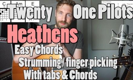Heathens  – Twenty One Pilots  Guitar Tutorial   Chords + tabs   Suicide Squad Soundtrack