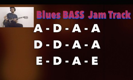 BASS Backing Track with guitar solo – Blues Shuffle (A)