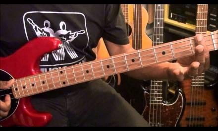 How To Play Bass Guitar Nate Phillips Style Slap Riff #2 Lesson EricBlackmonMusicHD