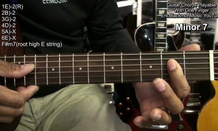 How To Play A BUNCH Of Guitar Chords With One Finger  Maj Min 7sus2/4 Min7