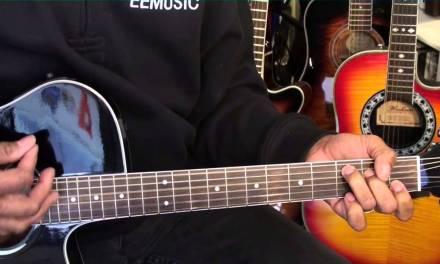 Elvis Presley Hound Dog Easy Guitar Lesson Tutorial Original Key C EricBlackmonMusicHD