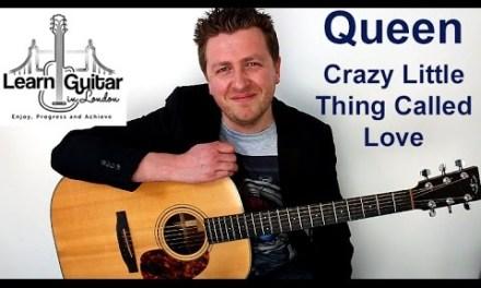 Crazy Little Thing Called Love – Acoustic Guitar Lesson – Queen – Drue James