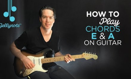 Desire by U2 – Easy chords (E A) Guitar Tutorial (Jellynote Lesson)